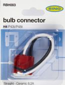 RBH003 H4 CERAMIC BULB HOLDER - STRAIGHT CABLE